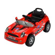 Passeio elétrico do controle de rádio do brinquedo das crianças vermelhas no carro com massa