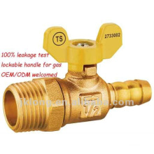 forged brass male thread ball valve for gas