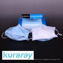 Máscara de estiramiento de tipo FV desechable hecha de fibra Kuraflex para polvo PM 2.5 de Kuraray. Hecho en Japón (máscara facial no tejida)