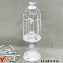 Weinlese-Weiß-Metall-Eisen-klassischer Tabellen-Lampen-Rahmen-Entwurf