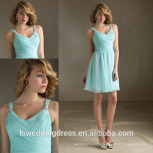 HC4281 The Whole Sale A Line Sleeveless Tank Light Blue Chiffon Ruffle Skirt Latest Girls Dresses