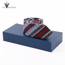 Conjunto de gravata de presente de caixa de gravatas de poliéster com caixa