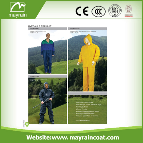 Men Polyester Rain Suit