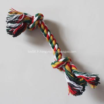 Bonbons couleur coton corde haltère jouets pour animaux de compagnie