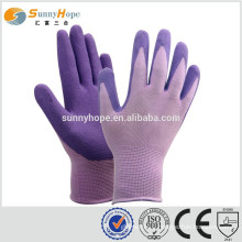 sunnyhope safety purple nylon gloves