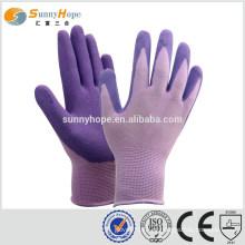 Sunnyhope safety luvas de nylon roxo