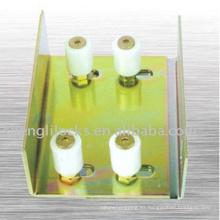 Fábrica al por mayor de nylon polea de plástico soporte de cuatro poleas ranura