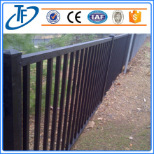Black square tube for garrison fence