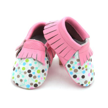Atacado Soft Real Leather Mocassins Baby Shoes