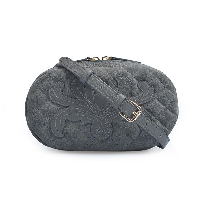 Leather Bum Fanny Pack Long Chain Waist Belt Bag