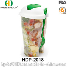 High Quality Plastic Salad Cup with Dressing Cup (HDP-2018)