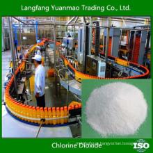 Desinfectante de dióxido de cloro de grado alimentario para procesamiento de alimentos