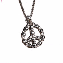 2016 mais novo preto de aço inoxidável pingente de jóias com cristal