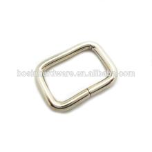 Moda de alta qualidade Metal Rectangle anel de aço