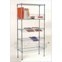 Adjustable Metal Display Wire Magazine Rack (CJ-B1119)