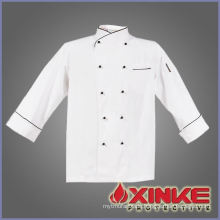 cotton white chef overalls used in kitchen