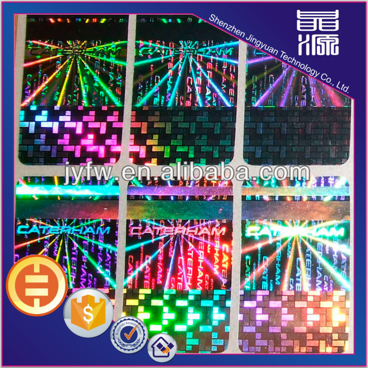 Rectangle Self Adhesive Laser Hologram Label