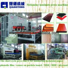 MDF board melamine laminating machine / MDF embossing board hot press