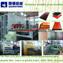 MDF board melamine laminating machine / MDF embossing board hot press
