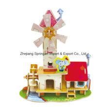 Holz Collectibles Spielzeug für Heimwerker Häuser-Mühle Haus