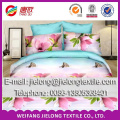 bright color 100% polyester 3D printed fabric for making bed sheet