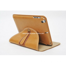 PU Stand Leather Cover Case for iPad Mini, Flip Card Holder Leather Case