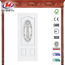 3/4 Oval Lite Primed Steel Prehung Front Door