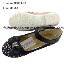 Детская обувь девушки танцевальная обувь принцесса обувь туфли (FF0724-20)