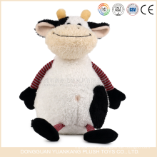 YK ICTI OEM brinquedos manufactrer brinquedos animais macios bonito Stuffed dairy toys com design de vaca