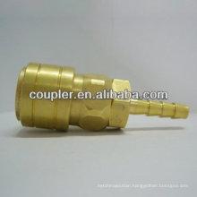 Brass NITTO Air garden brass Quick Connector W/Hose Barb