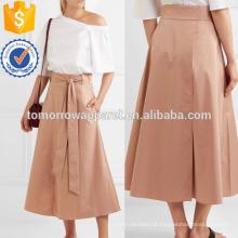 Algodão-poplin Wrap Skirt Fabricação Atacado Moda Feminina Vestuário (TA3049S)