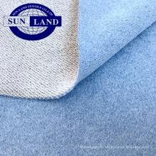 vêtements sport à capuche en tricot mélangé 70 polyester 30 coton éponge