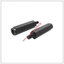 Schwarz eloxierte Aluminium-Distanzhülse für PCB oder unbemannte Fläche