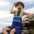 Vestido bohemio venta al por mayor vestido de playa del verano 2017 ropa de mujer