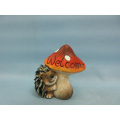 Mushroom Hedgehog Shape Ceramic Crafts (LOE2533-C11)