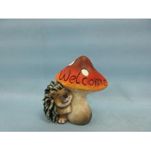 Artisanat en céramique en forme de Hérisson à champignons (LOE2533-C11)