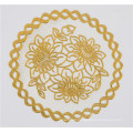 20cm Round Gold PVC Lace Doily Popular Use Home/Coffee