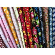 100% Baumwoll-Flanellstoffe zum Schlafen Kleidung