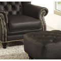 European Style Simple Classical Bedroom Leather Sofa Chair