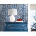 Blue Patterned Glass Mosaic In The Living Room