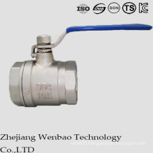 2PC Reduced Bore Stainless Steel Manul Casting Ball Valve