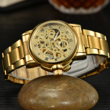 Gold Stainless Steel Man Watch By Foksy