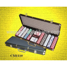 Neue Ankunft schwarz Aluminium 500 Pokerkoffer