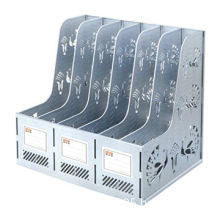 Office Plastic Assembled Silvery Magazine Rack, For Keeping Magazine, Book, Newspaper, File Folder