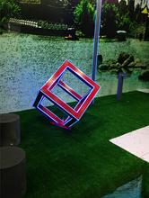 Rubik's cube garden lamp