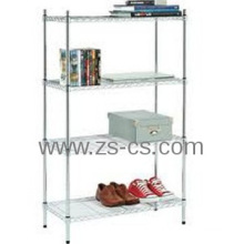 DIY Heavy Duty Chrome Adjustable Living Room Corner Shelf (CJ12045180A4C)
