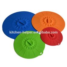 Fabriqué en Chine en silicone résistant à la chaleur en silicone couvercle couvercle couvercle en silicone