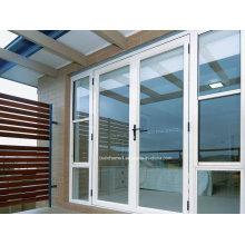 Custom Vantage Résidentiel Maison moderne en poudre blanche Porte en aluminium