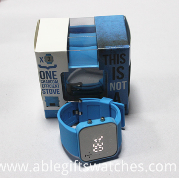 Silicone mirror LED watches