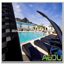 Audu Thailand Солнечный отель Проект Rattan Sun Lounger